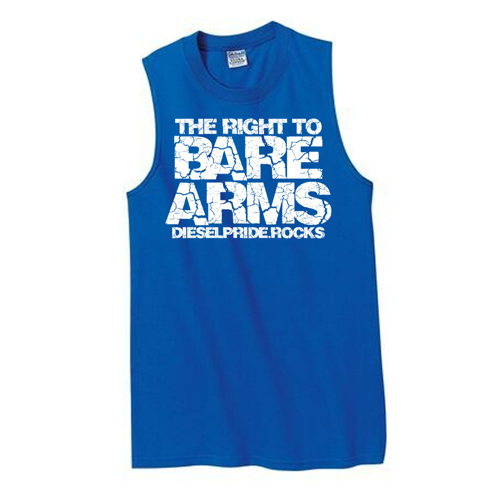 Right to Bare Arms: Blue Tank